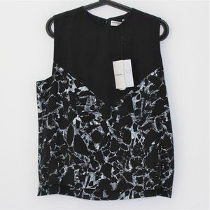 Balenciaga Patterned Rayon Blouse NWT R1159